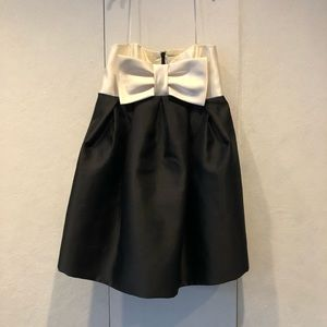 Jill Stuart empire waist Ivory and black bow dress